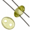 Twin 2-hole Bead 2.5x5mm Transparent Light Green Dyed